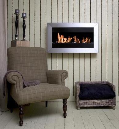 Bio-Blaze BBS24858S Wall Mountable Bioethanol Fireplace