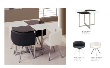 Global Furniture USA 8105pcSetWhite Global Furniture USA Din