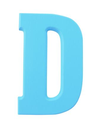 FireSkape XX6251002 Decorative Solid Wood Routed Letter 6.25 Inches Tall in the Little Boy Blue Finish