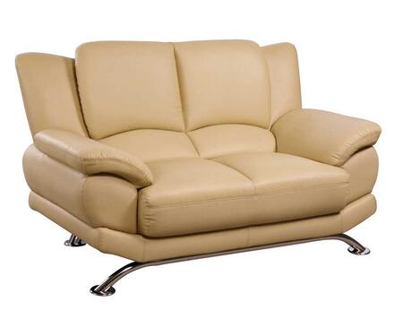 Global Furniture USA 9908CAPL U9908 Series Bonded Leather Stationary with Wood Frame Loveseat