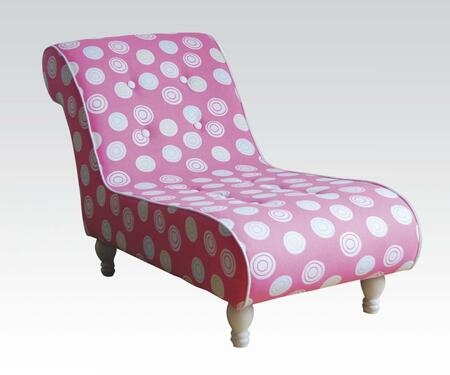 Acme Furniture 59028 Candy Series Traditional Fabric Chaise Lounge