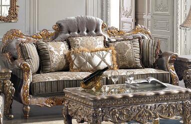 Homey Design HD287S  Stationary Fabric Sofa