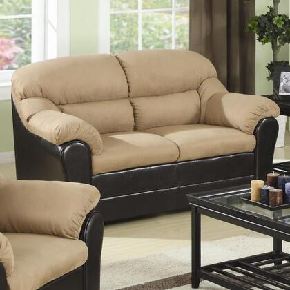 Coaster 501882N Microfiber Stationary with Wood Frame Loveseat