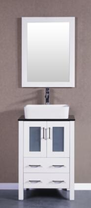 Bosconi Bosconi Single Vanity with  Soft Closing Doors ,  Drawers, Top,  Sink,  Faucet and Mirror in White