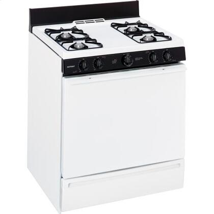 """Hotpoint RGB518PCDWH 30"""" Gas Freestanding Range 