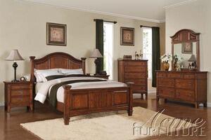 Acme Furniture 19417EK Harvest Series  King Size Poster Bed