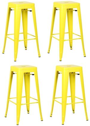 EdgeMod EM126YELX4 Trattoria Series Commercial Not Upholstered Bar Stool