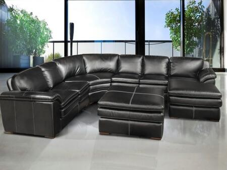 Novo Home 63425PC myPad Series Sofa and Chaise Leather Sofa