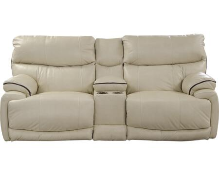 "Catnapper Larkin Collection 13999- 86"" Lay Flat Reclining Console Loveseat with Storage, Two Cupholders and USB Port in"