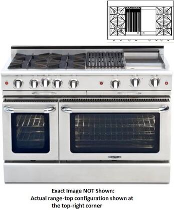 "Capital CGMR482BG2N 48"" Culinarian Series Natural Gas Freestanding"