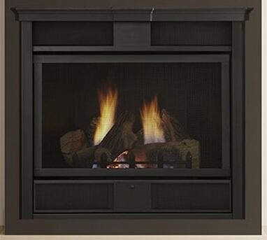 """Monessen VFC24CI Symphony 24"""" Vent-Free Fireplace Up to 26,000 BTUs with Stone/Fireglass Kit, Expansive Viewing Area and uses IPI Control in Contemporary Style"""