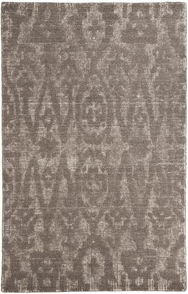 Milo Italia Mia RG443468TM X Size Rug with Ikat Design, Hand-Woven, Wool Material, Backed with Cotton and Latex in Taupe and Brown Color.