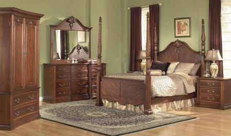 Accent HA848505BED4SET Wyndham California King Bedroom Sets