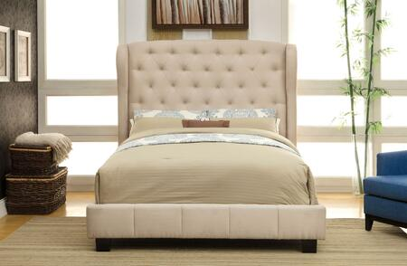 Furniture of America CM7050IVCKBED Fontes Series  California King Size Bed