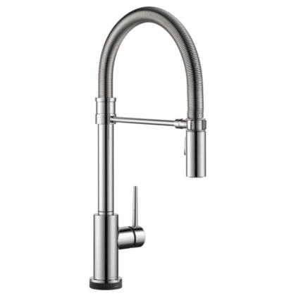 Trinsic  9659T-DST Delta Trinsic: Single Handle Pull-Down Spring Spout Kitchen Faucet with Touch2O Technology in Chrome