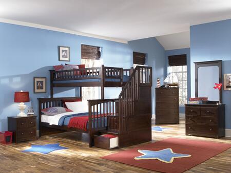 Atlantic Furniture YBBCOLUMBIASTTWINTWINAW Columbia Series  Twin Size Bunk Bed