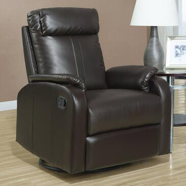 Monarch I8081BR Transitional Bonded Leather Wood Frame Rocking Recliners