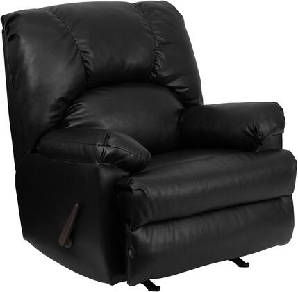 Flash Furniture WM-8500-3XX-GG Contemporary Apache Leather Rocker Recliner with Extremely Reliable Hickory Springs Mechanisms, 1.8 Resiliency Foam, and Heavily Cushioned