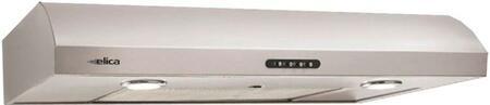 "Elica Nemi ENM236 36"" Under-Cabinet Hood With 280 CFM, 3 Speed Internal Blower, 120V, Full Filter Bottom Body Style, Dishwasher Safe Aluminum Mesh Grease Filter, 2 Halogen Lamps, In"