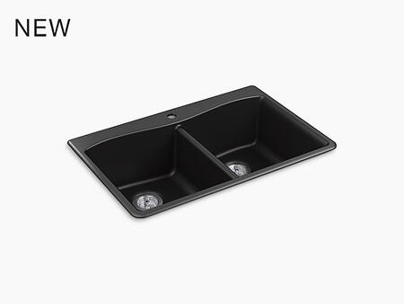 Kohler K81851CMx Under Mount Double Equal Kitchen Sink with Dual Tubs, in