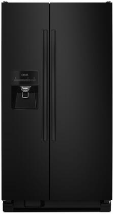 """Amana ASI2575FRX 36"""" Freestanding Side-by-Side Refrigerator with 24.49 cu. ft. Total Capacity, Ice Maker, SpillSaver Glass Shelves, External Water and Ice Dispenser, and Deli Drawer, in"""
