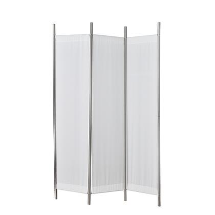 Adesso HX11110 Rita Folding Screen, Brushed Steel Finish