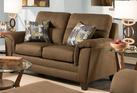 Chelsea Home Furniture 1810729337VLM Cable Series Polyester Stationary with Wood Frame Loveseat
