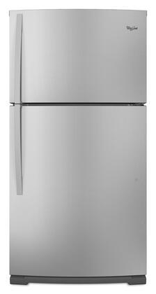 Whirlpool WRT571SMYM Freestanding Top Freezer Refrigerator with 21.1 cu. ft. Total Capacity 2 Glass Shelves 6.1 cu. ft. Freezer Capacity