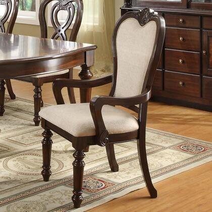 Coaster 102973 Linwood Series Traditional Fabric Wood Frame Dining Room Chair