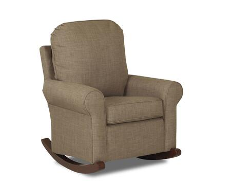 "Klaussner Suffolk N-1-C 36"" Rocker with Classic Roll Arms and Two Seat Cushions in"