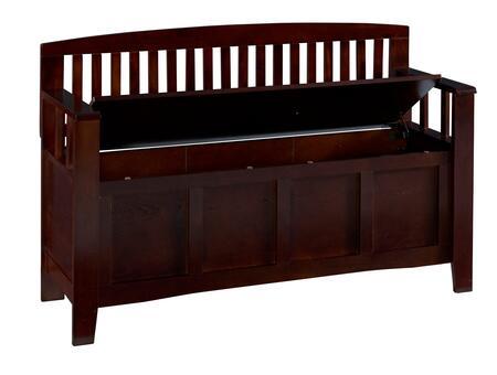 Linon 83985WAL01KDU Cynthia Series Accent  Wood No Bench