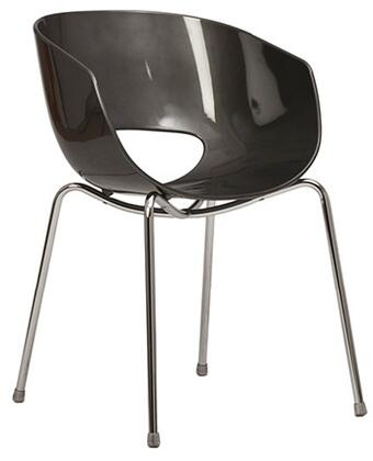 ITALMODERN L3468ANT Orbit Series Modern Not Upholstered Metal and Plastic Frame Dining Room Chair