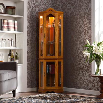Holly & Martin CM069 Lighted Corner Curio Cabinet