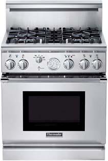 Thermador PRL304EG PRO Grand Series Gas Freestanding Range with Sealed Burner Cooktop, 5.1 cu. ft. Primary Oven Capacity, in Stainless Steel