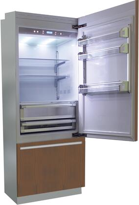 """Fhiaba B 30"""" Brilliance Series Built In Bottom Freezer Refrigerator with TriMode, TotalNoFrost, 3 Evenlift Shelves, Door Storage and LED Lighting:"""