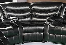 """Meridian Gramercy 642-W 75"""" Wedge with Top Quality Bonded Leather Upholstery and Removable Backs in"""