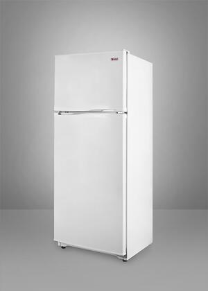 Summit FF882W  Freestanding Counter Depth Top Freezer Refrigerator with 8.8 cu. ft. Total Capacity 2 Wire Shelves
