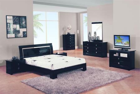 Global Furniture USA B67BLKINGSET 5 Piece Bedroom Set