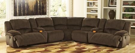 Milo Italia MI2742SEC7PCCHOC Esteban Series Reclining Fabric Sofa