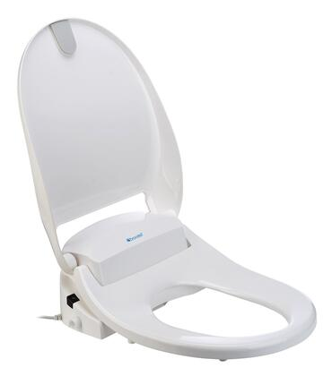 Brondell S300 Swash 300 Toilet Seat With Bidet, Anti-bacterial Nozzle System, Aerated Wash Spray, Remote Control, Stylish Design And Comfortable Heated Seat, In White