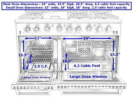 Gas Range Front View
