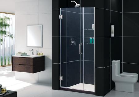 "DreamLine SHDR-20357210C DreamLine Unidoor 35 to 36"" Frameless Clear 3/8"" Glass Hinged Shower Door in"