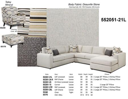 Chelsea Home Furniture Nash 552051 SEC DS%20Nash%20Sectional%20Group%20Deaville%20Stone%20Product%20Information