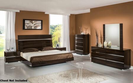 VIG Furniture VGACROMANOEBONYSETEK Modrest Romano Series 5 Piece Bedroom Set