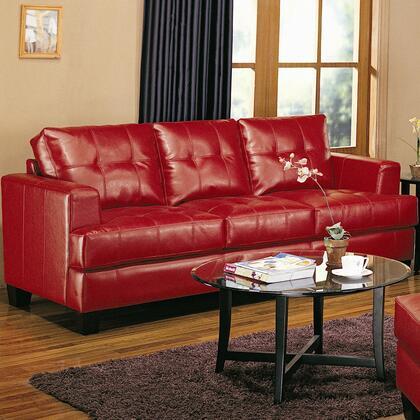 Coaster 501831 Samuel Series Stationary Bonded Leather Sofa