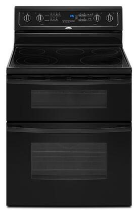 Whirlpool GGE388LXB Gold Series Electric Freestanding Range with Smoothtop Cooktop, 4.2 cu. ft. Primary Oven Capacity, Oven in Black