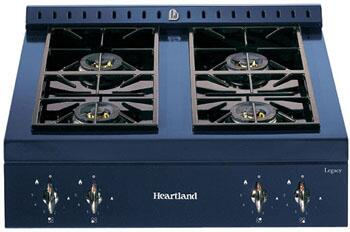 Heartland 380017NG  Gas Sealed Burner Style Cooktop, in Gun Metal