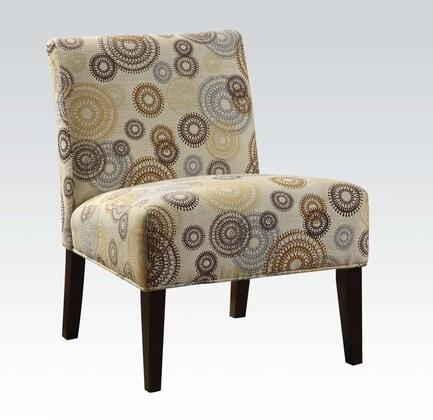 Acme Furniture 59069 Aberly Series Armless Fabric Wood Frame Accent Chair