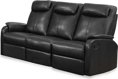 "Monarch I 87BY 72"" Reclining Sofa with Lumbar Support, Comfortably Padded and Bonded Leather"