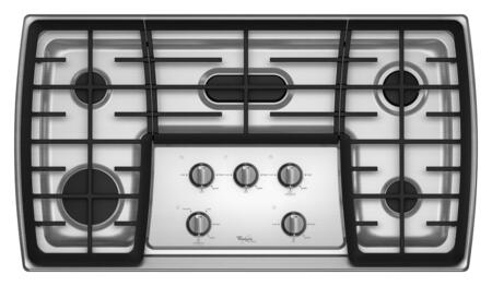 Whirlpool G7CG3665XS Gold Series Gas Sealed Burner Style Cooktop